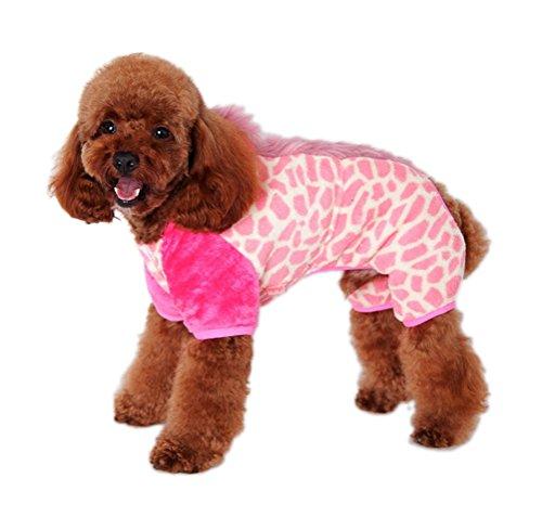 Freerun Fall Winter Soft Warm Pet Clothes Polar Fleece Pet Dog Cat Apparel for Cold Weather - Pink,