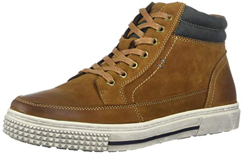 Reaction Kenneth Cole High Rise Mid Sneaker Cognac