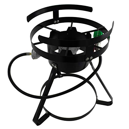 Chard BSR13, Portable Burner with Stand and Regulator, Black, 50,000 BTU