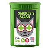 Organic catnip by Smokey's Stash | OG puss | cat weed for cats pop top – small Review