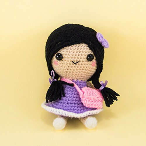 Crochet Girl Doll Girl Collectible Musical Doll