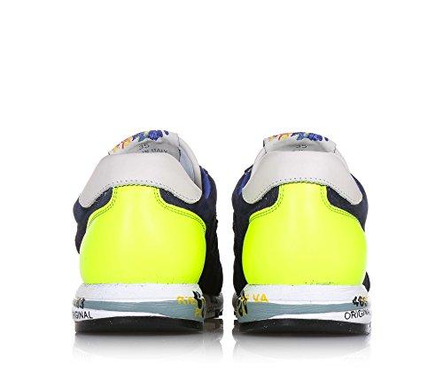 PREMIATA - Blauer Schuh mit Schnürsenkeln, aus Wildleder, durchgebohrt, auf der Zunge ein Logo, Unisex Kinder, Mädchen, Jungen
