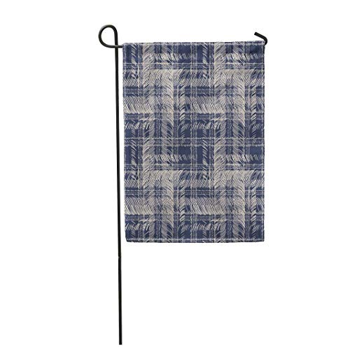 (Tarolo Decoration Flag Check Abstract Variegated Checked Pattern Distressed Stitch Vintage Artistic Thick Fabric Double Sided Home Garden Flag 12