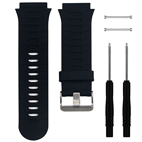 QGHXO Band for Garmin Forerunner 920XT, Soft Silicone Replacement Watch Band Strap for Garmin Forerunner 920XT GPS Watch, Fits 5.9 inches-8.26 inches Wrist