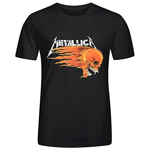 metallica-flaming-skull-cool-mens-t-shirt-black