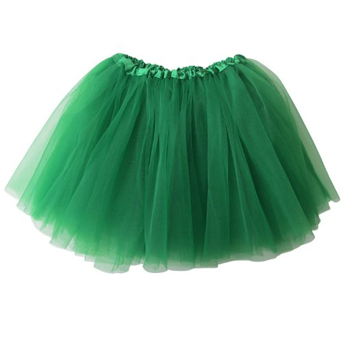 Green Tutu (Ballerina Basic Girls Dance Dress-Up Princess Fairy Costume Dance Recital Tutu (Green))