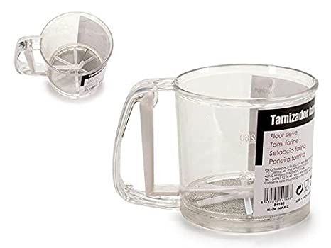 Dream Hogar Tamizador de harina dispensador harina con asa y gatillo 250g plastico: Amazon.es: Hogar