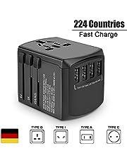 Reiseadapter Reise Stecker Weltweit 200 Ländern Universal Travel Adapter 4 USB Ports + Type C +AC Stromadapter 304s