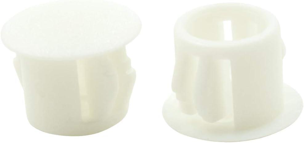 Plastic Pipe Choke Plug 10mm Home Furniture Fastener TOUHIA 100pcs Plastic White Locking Hole Plugs Panel Hole Diameter 0.39