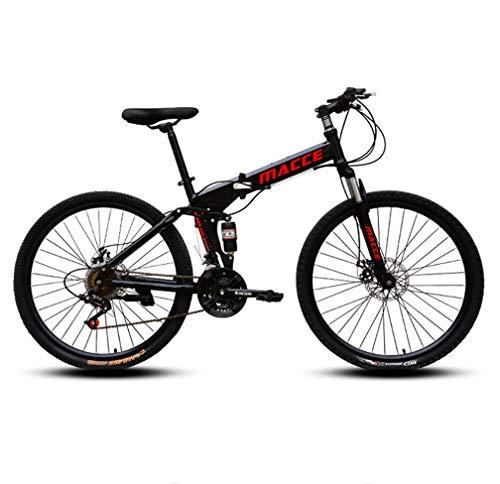 High Carbon Steel Bikes 21 Speed opvouwbare Mountainbike Fiets Ideaal voor School En werk met Dual Disc Brakes Racefiets…