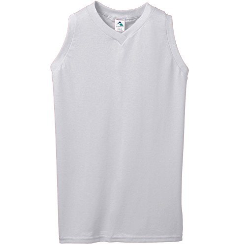 Augusta Sportswear Women's Sleeveless V-Neck Poly/Cotton Jersey S Athletic ()