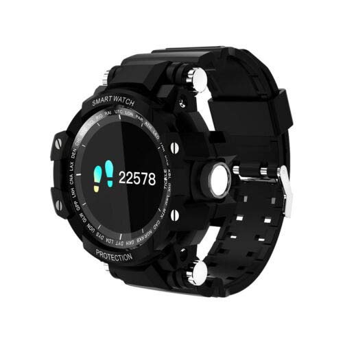 FidgetGear Sport Smart Watch Heart Rate Blood Oxygen Pressure Calories for Android iOS Black for Alcatel A3/Idol 4/One Touch/Pixi 3 4