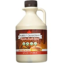 Organic Maple Syrup - 32 Oz. Jug - 100% Pure Canadian Maple Syrup - Small Family Farm Sourced - Grade A: Amber Rich Taste - Non-GMO, Healthy and Gluten-Free