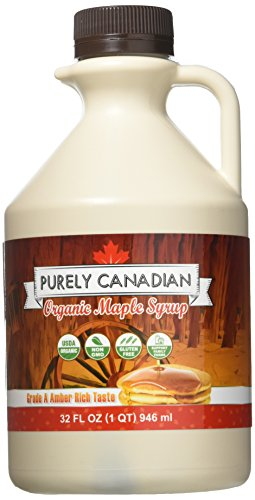 Organic Maple Syrup - 32 Oz. Jug - 100% Pure Canadian Maple Syrup - Small Family...