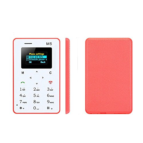 Twinbuys M5 Mini Mobile Card Phone for Basic - Cell Phone Mini Sim Card
