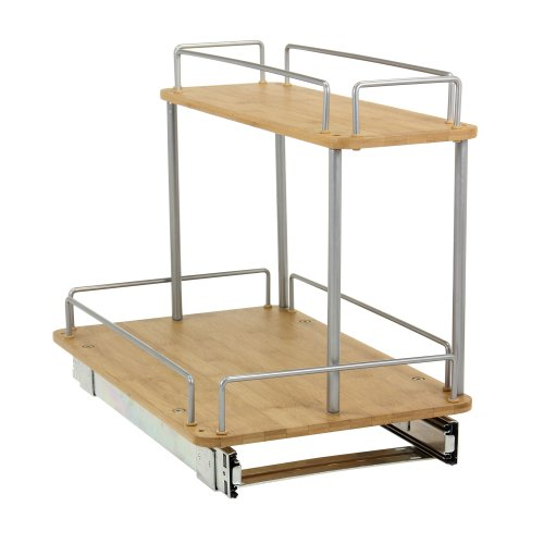2-Tier Sliding Under Cabinet Organizer