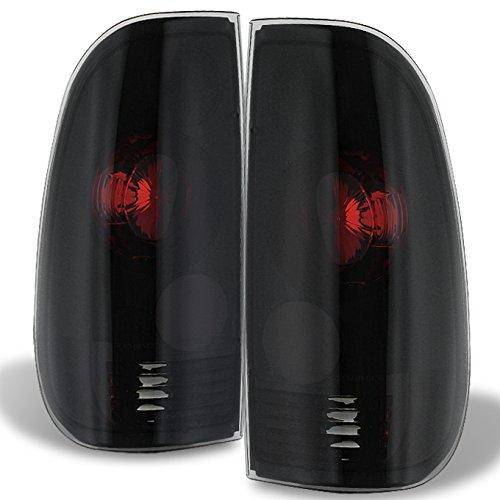 97-03 F150 F250 99-07 Superduty Styleside Model Pickup Truck Black Smoke Tail Lights Brake Lamps