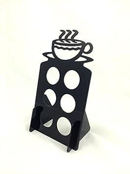 Dispensador de vasos de 6 K café Keurig & árbol Pod soporte acrílico, color negro