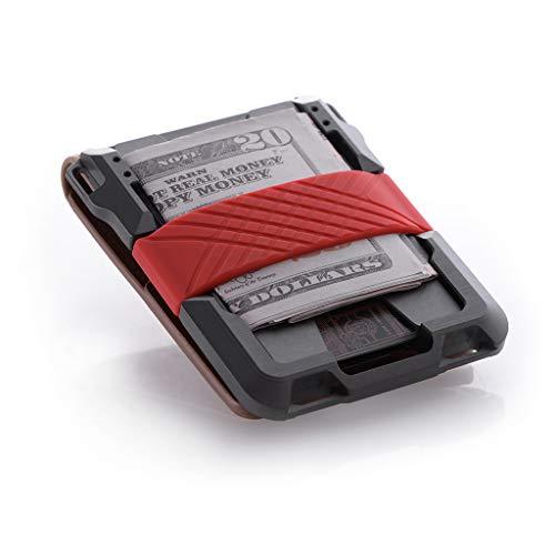 Dango M1 Maverick Wallet - CNC-Machined Aluminum, RFID Blocking, Made in USA (Bifold - Rawhide/Slate Grey)