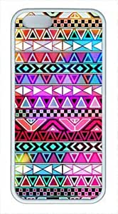 Static pop pattern iphone 5/5s TPU white case by Cases & Mousepads
