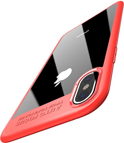 TOZO for iPhone X Case, Soft Grip Matte Finish TPU + PC Clear Hard Back Panel Hybrid Ultra-Thin [...