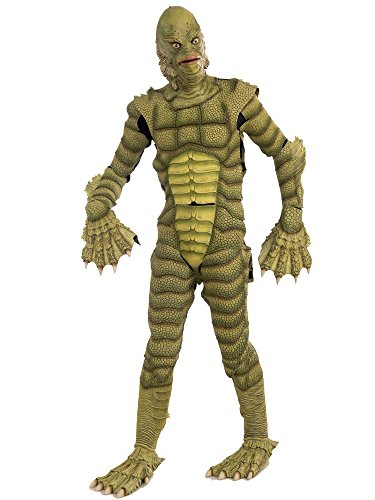 Forum Novelties Men's Universal Monsters Creature From The Black Lagoon Collector's Edition Costume Mask, Green, One Size -