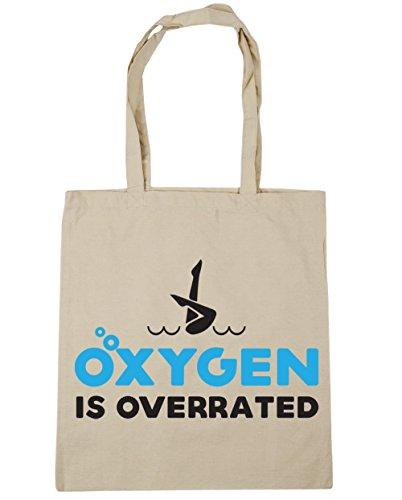 HippoWarehouse es de oxígeno overrated sincronizada bolsa de la compra bolsa de playa 42cm x38cm, 10litros Natural