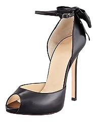 Women's Shoes Leatherette Peep Toe Thin Heels11cm Office & Career / Party & Evening / Dress Pumps Shoes