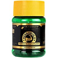 Dr Vaidya's Herbobuild - Ayurvedic Capsules for Muscle Gain (Pack of 1)