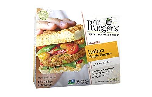 DR PRAEGER Burger Veggie Italian Patties, 11 Ounce (Pack of 12)