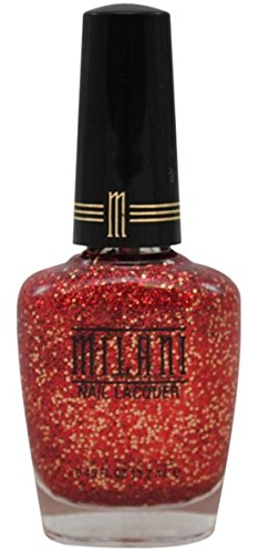 - MILANI Specialty Nail Lacquer One Coat Glitter - Red Gold Sparkle
