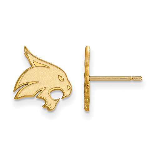 Texas State Small (1/2 Inch) Post Earrings (10k Yellow Gold) by LogoArt
