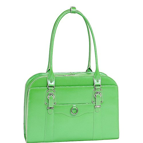 Ladies Briefcase Green - McKlein USA HILL SIDE W Series Leather Ladies' Briefcase Business Tote in Green