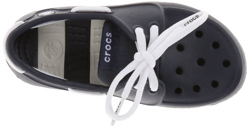 crocs Beach Line Lace PS Boat Shoe (Toddler/Little Kid),Navy/White,10 M US Toddler by Crocs (Image #7)