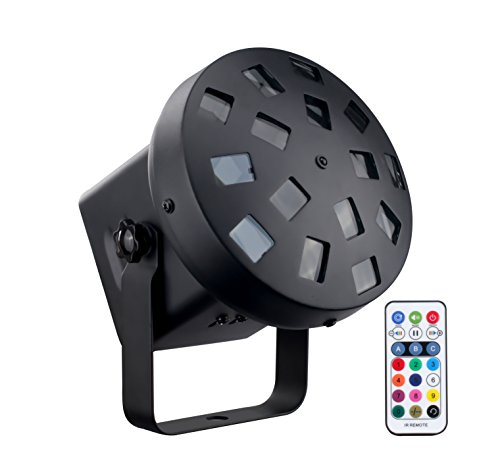 DragonX LED Tri Color Mushroom Stage Effect DJ Professional Strobe Light(IR Remote Controller included) for Home Parties Disco Club and KTV Lighting ()