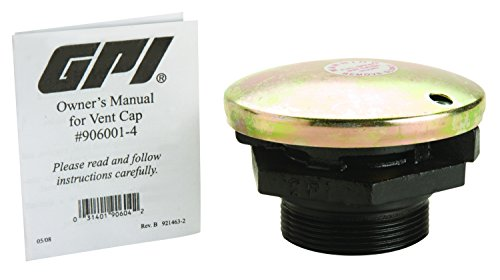 - GPI 906001-4, Pressure Vent Cap with 2-Inch NPT Cast Iron Base for Vented Fuel Storage Tank, 3 PSIG Pressure Valve, 1 PSIG Vacuum Release, Up to 30 GPM