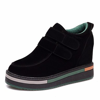 Botas de mujeres PU Confort Casual de resorte plano negro verde Green