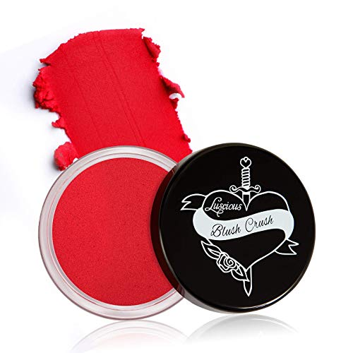 Blush Crush by Luscious Cosmetics | Ultra-blendable Cream Blush for Cheeks and Lips w/Natural Matte Finish | Vegan and Cruelty-Free Makeup (Passion)