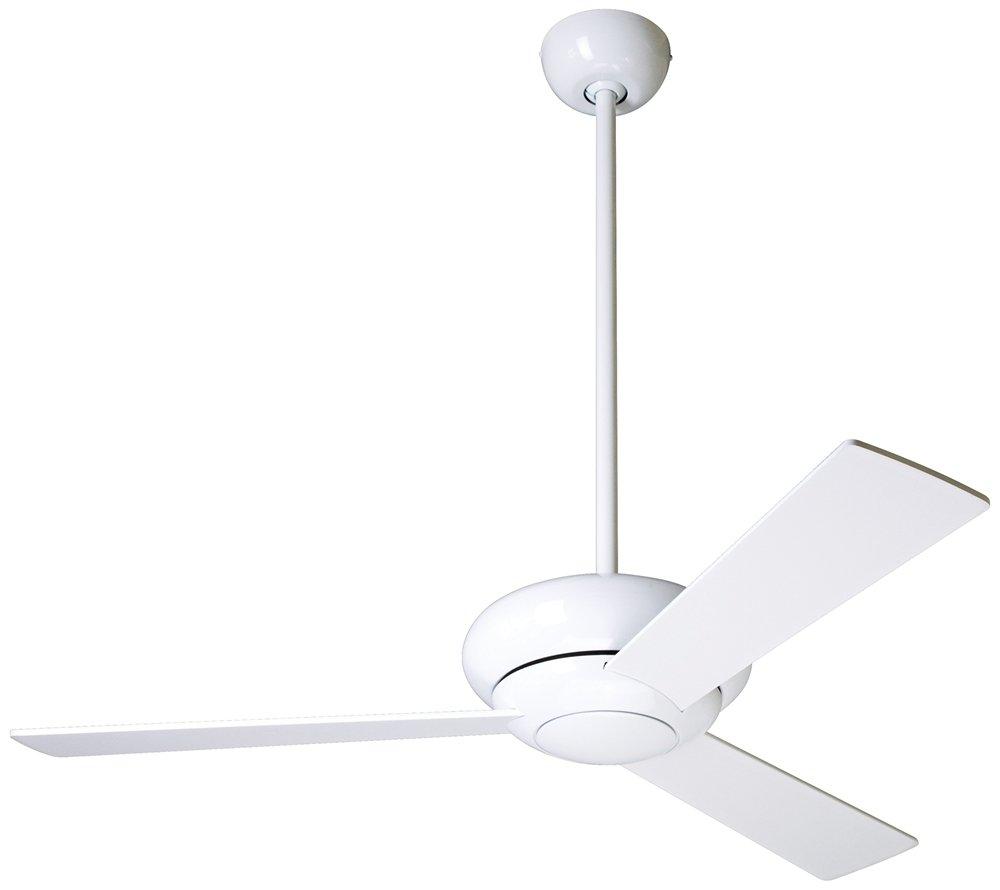 modern fan altus gloss white modern ceiling fan   amazoncom -
