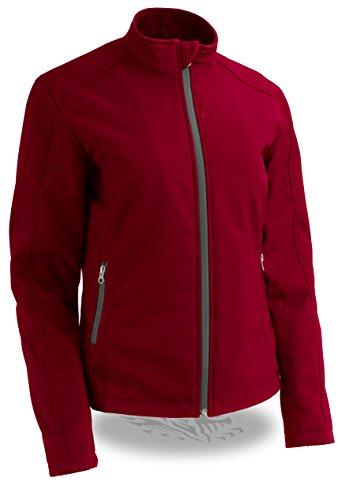 Milwaukee Performance Women's Waterproof Lightweight Zipper Front Soft Shell Jacket (Red, X-Large)