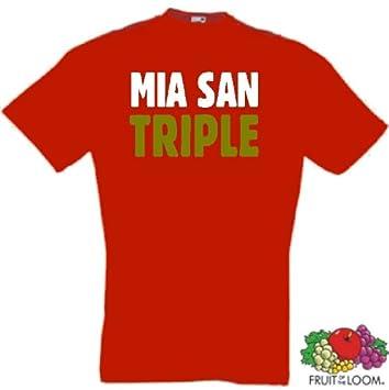 Mia San Triple Meister München Fan T Shirt Von S Xxxl Amazonde