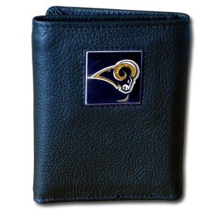 St. Louis Rams NFL Leather & Nylon Tri-Fold Wallet by Siskiyou