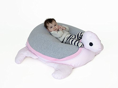 Kids & Baby beanbag Pink & Grey turtle lounger beanbag - Floor pillow by Pockets Baby & kids