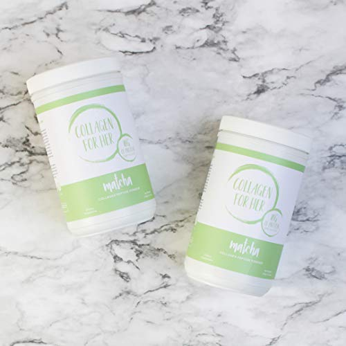 Collagen For Her Organic Matcha Collagen - Organic Green Tea (Matcha) & Grass-Fed Pasture Raised Hydrolyzed Collagen Peptides (12.34oz)