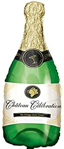 Amscan 0494901 14 x 36-inch Champagne Bottle Super Shape Foil Balloons