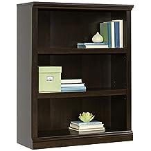 Sauder 3-Shelf Bookcase, Jamocha Wood Finish