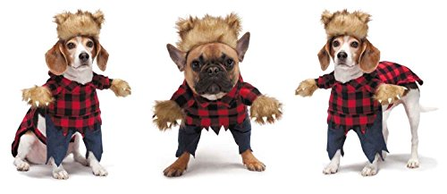 Dog Costumes With Fake Arms (Large Size Werewolf Dog Costumes Halloween Fur Beast Optical Illusion Fake Arms (Large))