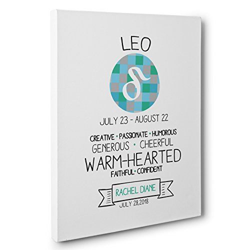 Zodiac Sign Leo Custom Astrology Zodiac Canvas Wall Art by Paper Blast