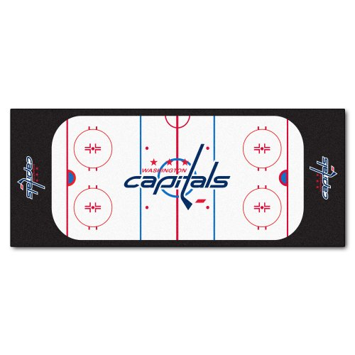 FANMATS NHL Washington Capitals Nylon Face Football Field Runner (Washington Capitals Floor)