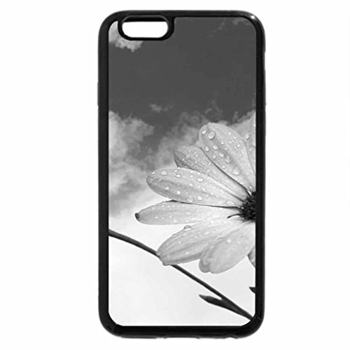 iPhone 6S Case, iPhone 6 Case (Black & White) - Flowers